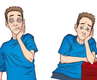 Cansaço e visão embaçada podem ser sintomas.