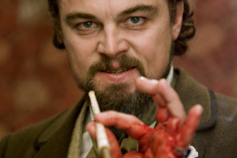 Leonardo DiCaprio com a mão cortada na filmagem de Django Livre