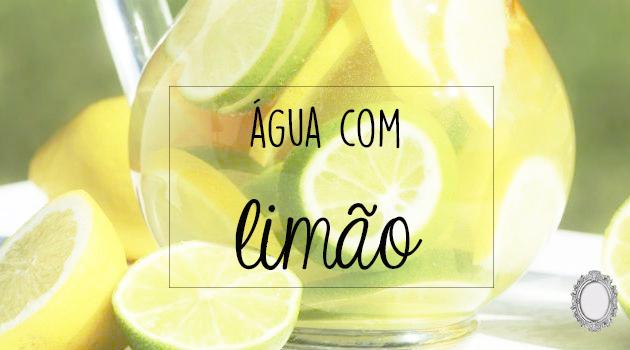 Água com limão - bebida milagrosa