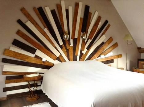 Linda cabeceira de cama