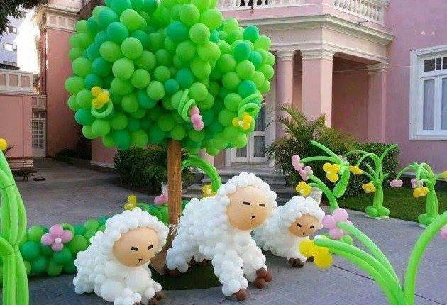 Ovelhas de balão
