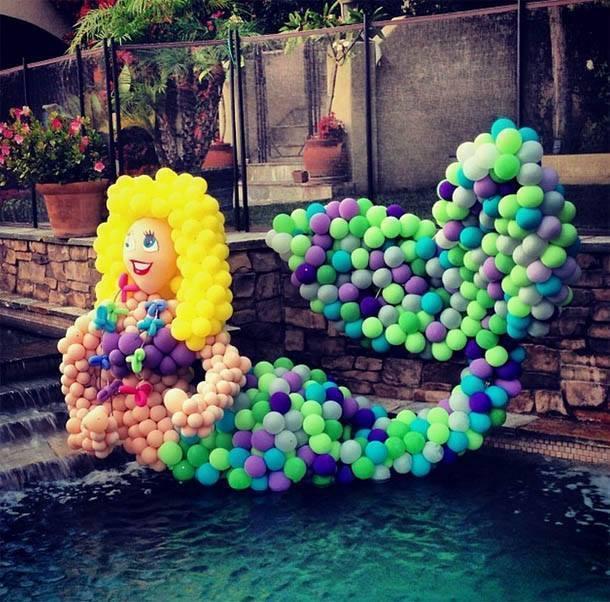 A sereia de balões