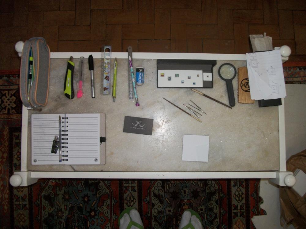 Materiais usados para fazer as telas