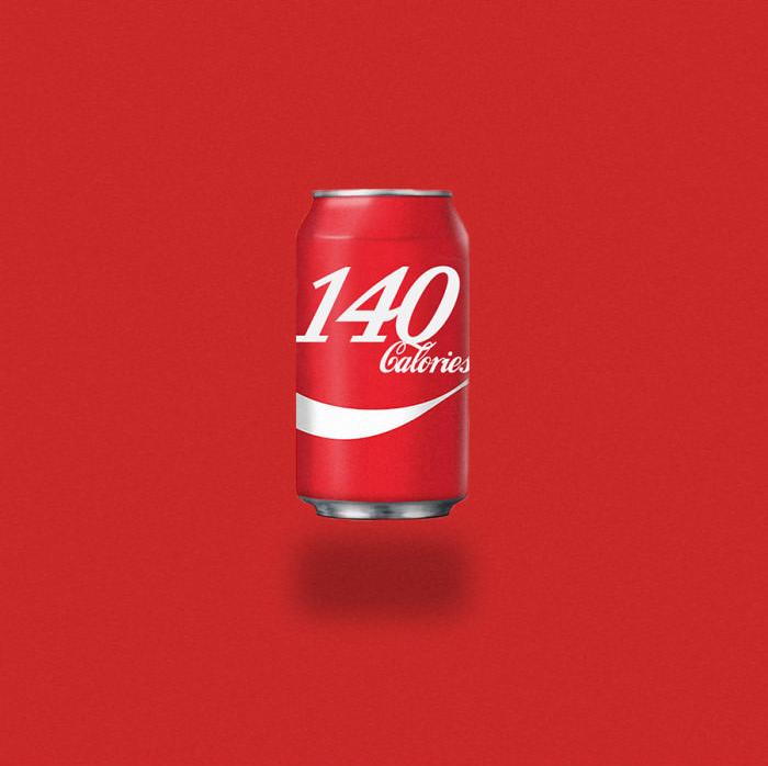 Lata de coca-cola.
