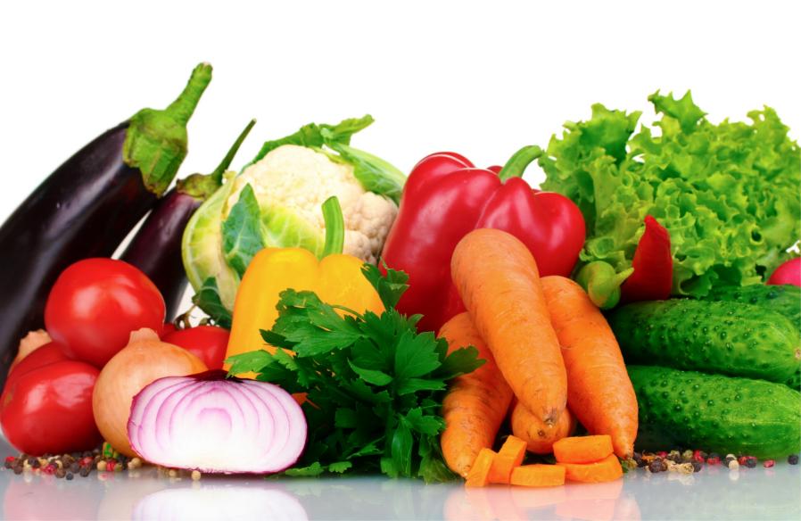 Hortaliças variadas fazem muito bem a saúde.