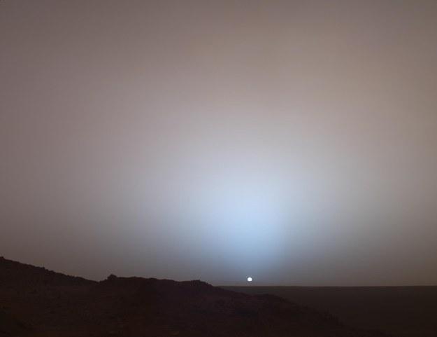 Vista do Sol em Marte
