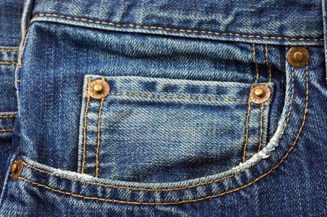 Bolso pequeno da calça jeans.