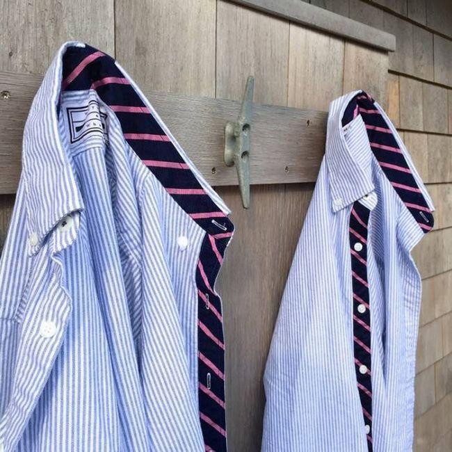 A dobra atrás da camisa social.
