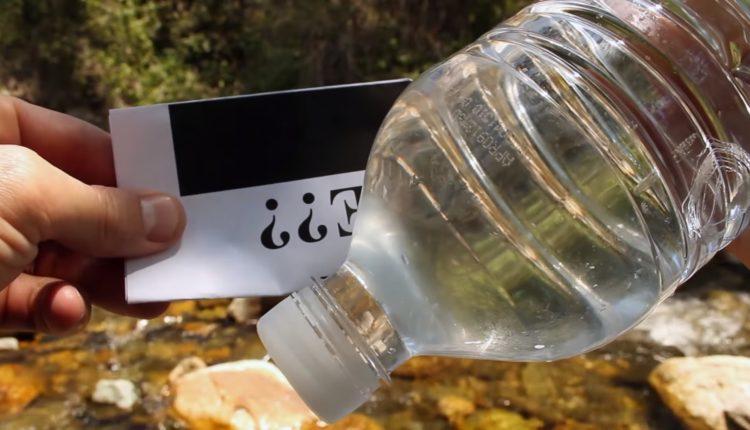 fazer fogo com garrafa de agua