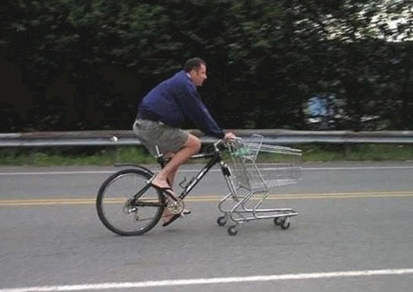 Perdi a roda da frente.