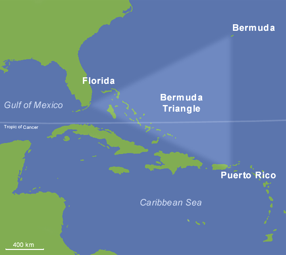 O triângulo das bermudas