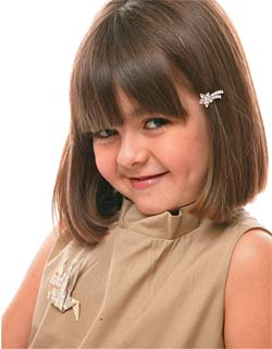 Corte de cabelo para meninas - Altura do queixo com franjinha
