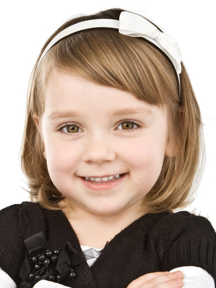 Corte de cabelo para meninas - Chanel e diadema