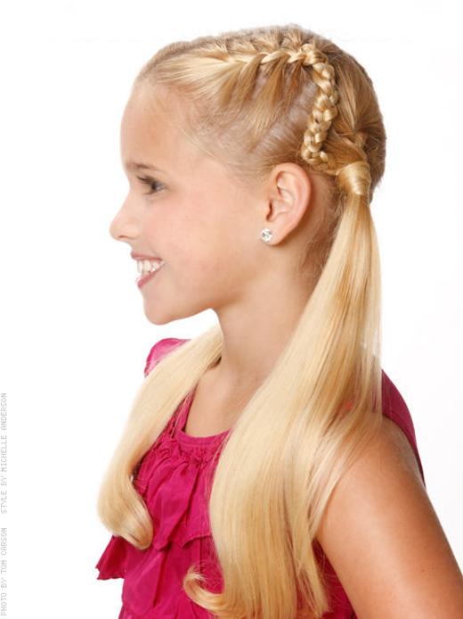 Corte de cabelo para meninas - Com trança e chuquinha