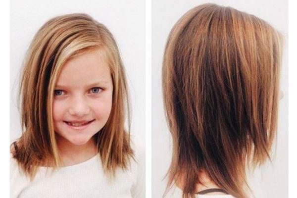 Corte de cabelo para meninas - Cabelo alisado