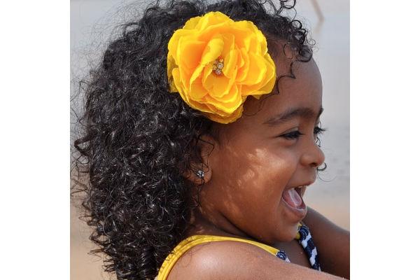 Corte de cabelo para meninas - Deixe o cabelo natural