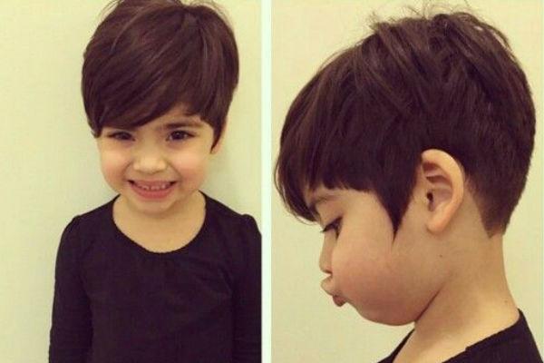 Corte de cabelo para meninas - Curtinho com franja de lado