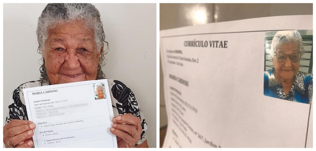 Currículo idosa de 101 anos