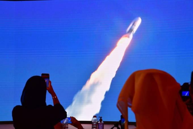 Lançamento da sonda Hope Probe (GIUSEPPE CACACE/AFP/Getty Images)