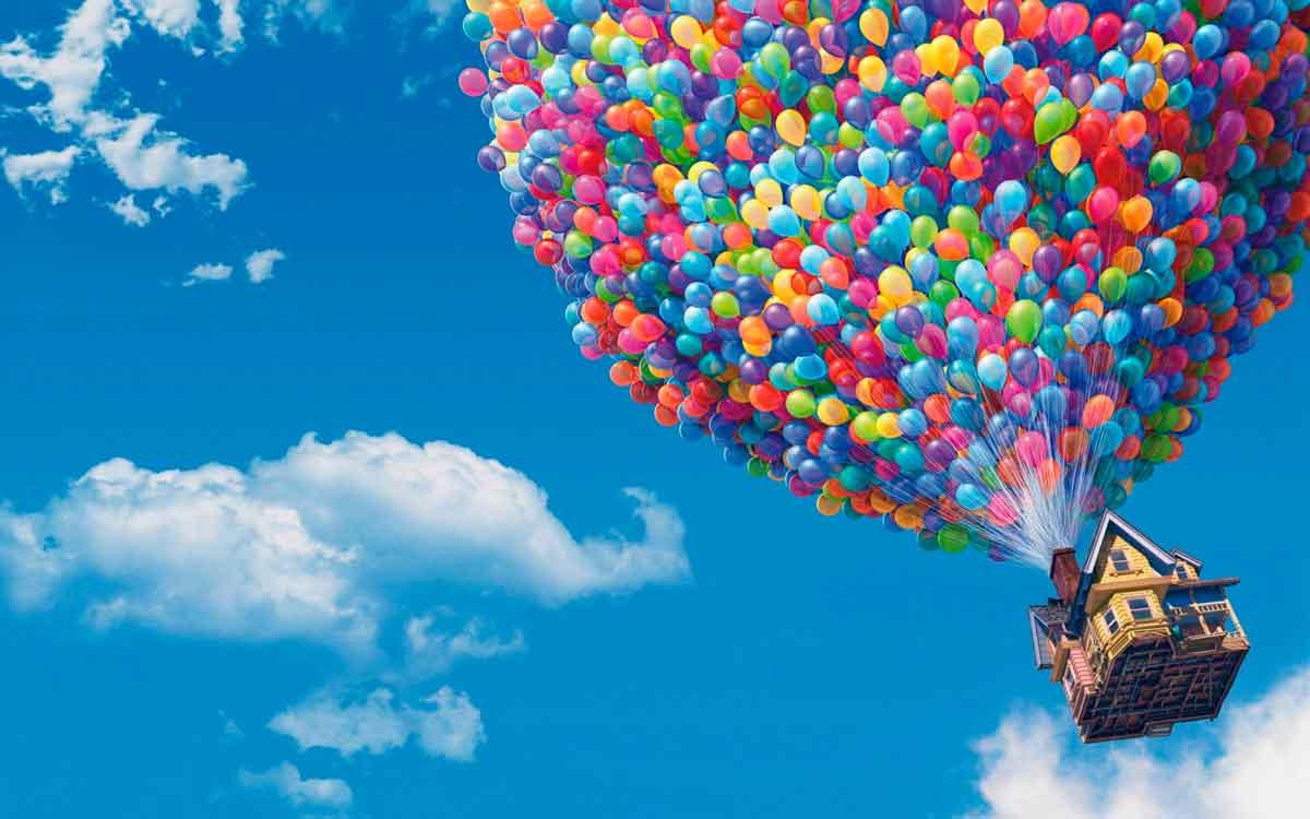 É possível erguer uma casa apenas com balões