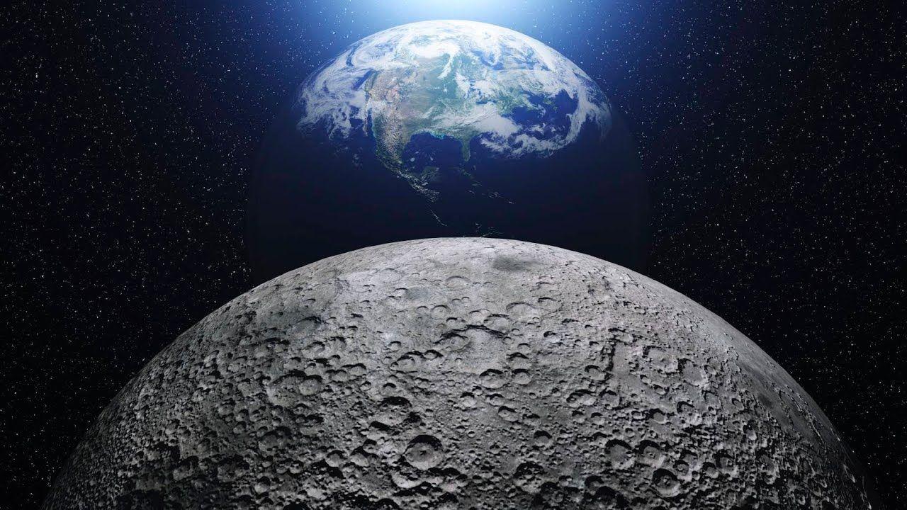 Lua se afastando da terra